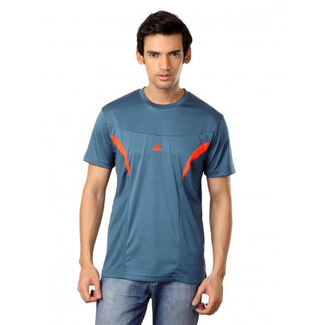 Adidas Men Teal T Shirt