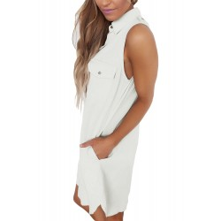 Creamy White Button Down Tunic