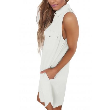 Creamy White Button Down Tunic