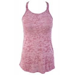 Rosy Braided Racerback Burnout Beach Dress